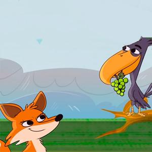 fabula de la zorra y el cuervo