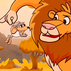fabula el leon y el raton