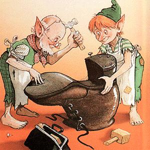 los duendes y el zapatero